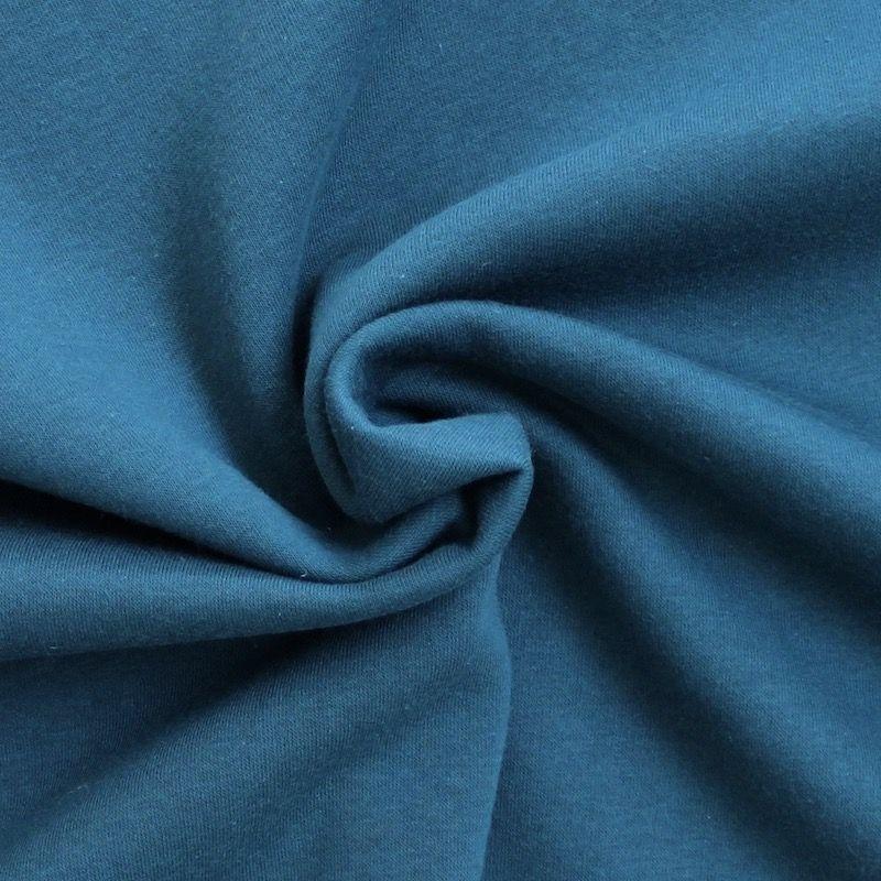 tissu sweat molletonn uni bleu canard. Black Bedroom Furniture Sets. Home Design Ideas