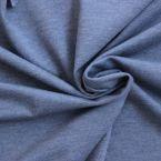 Tissu sweat fin molletonné uni bleu jeans