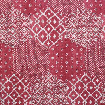 Furniture fabric printed with raspberry mosaic