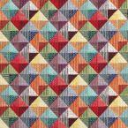 Jacquard stof met vintage ethnisch veelkleurig patroon
