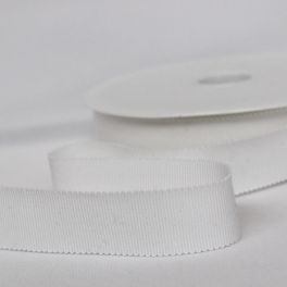 gros grain blanc 25mm