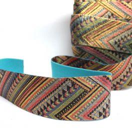 ceinture élastique multicolore ethnique