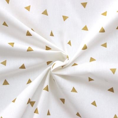 Cretonne with golden triangles