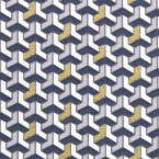 Tissu en coton à motif géométrique doré