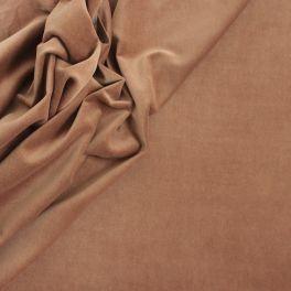 Velours de coton lisse camel