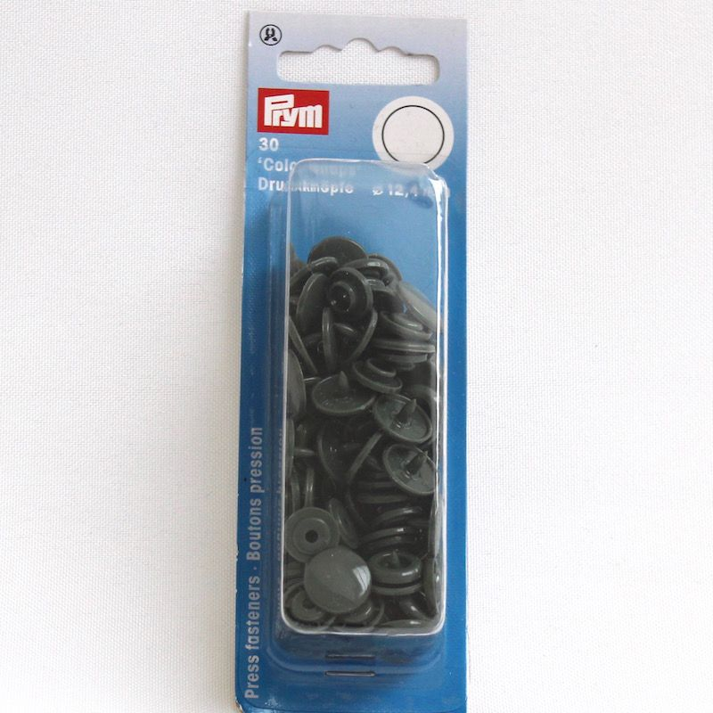 boutons pression color snaps gris fonc. Black Bedroom Furniture Sets. Home Design Ideas