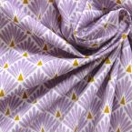 Tissu en coton à motif d'écailles lavande