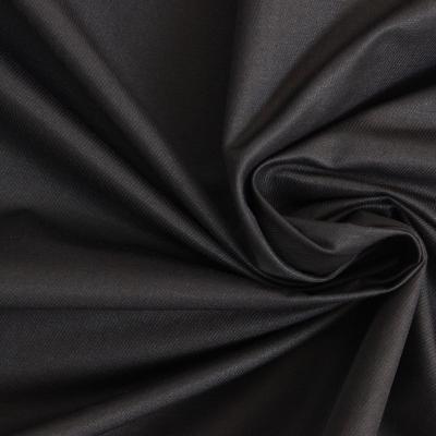 Checkered clothing fabric dark blue and gray satin finish