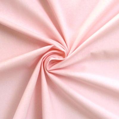 Tissu cretonne uni rose blush