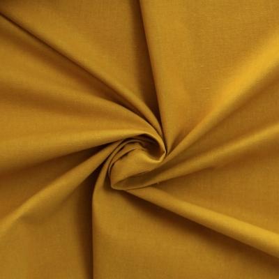 Cotton cretonne plain yellow