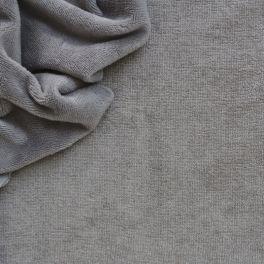 Tissu éponge coton et bambou gris