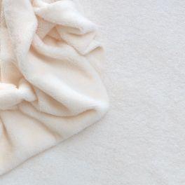 Tissu éponge coton et bambou ivoire