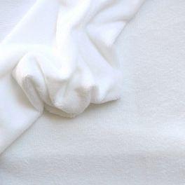 Tissu éponge coton et bambou  blanc