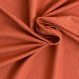 Tissu viscose et coton orange rouille