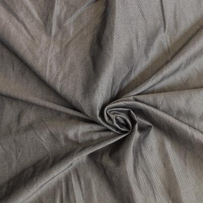 Striped silky fabric night blue