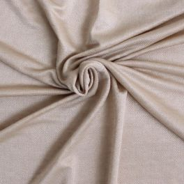 Tissu en coton et viscose beige