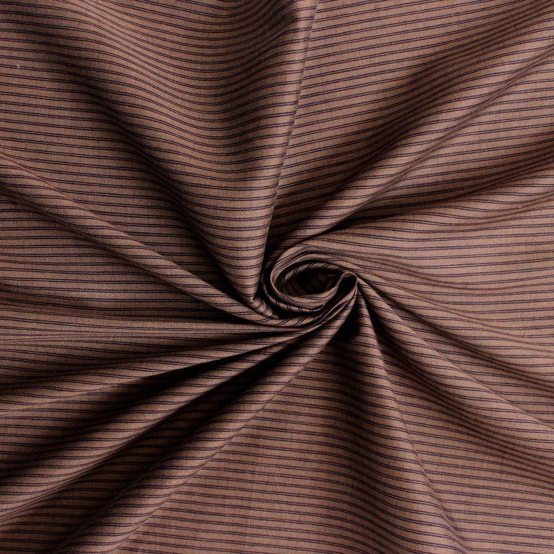 tissu en coton fin couleur tabac rayures. Black Bedroom Furniture Sets. Home Design Ideas