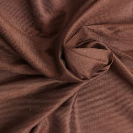 Tissu en viscose mélangé irisé marron