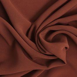 Tissu en viscose uni rouille