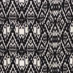 Satijn polyester met vintage geometrisch design