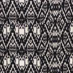 Satin en polyester motif  vintage noir et blanc