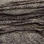 Satijn in polyester met roestkleurig cashmere design in een vlak van 77cm
