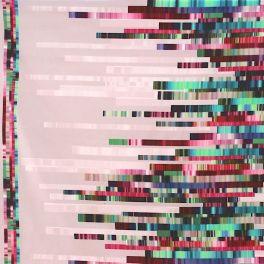 Satin de coton rose pâle à motif diagramme