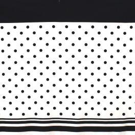 Paneel van donkerblauwe stof en zwarte wollen stof