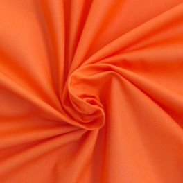 Toile a drap 100% coton orange vif