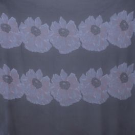 Panneau de tissu voile de soie marine à fleurs