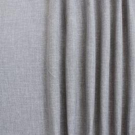 Tissu opacifiant grande largeur effet lin gris
