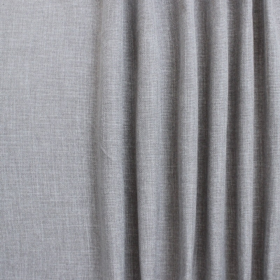 Blauwe groot linnen effect verduisterende stof
