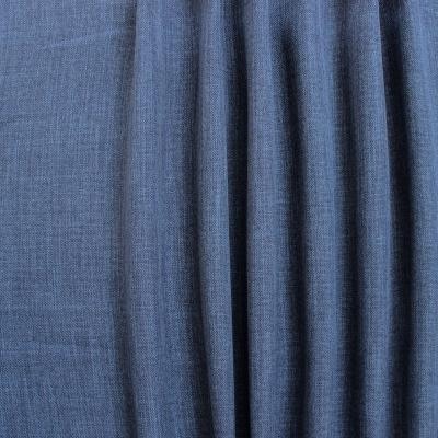 tissu obscurcissant grande largeur effet lin bleu. Black Bedroom Furniture Sets. Home Design Ideas