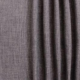 Tissu opacifiant grande largeur effet lin marron taupe