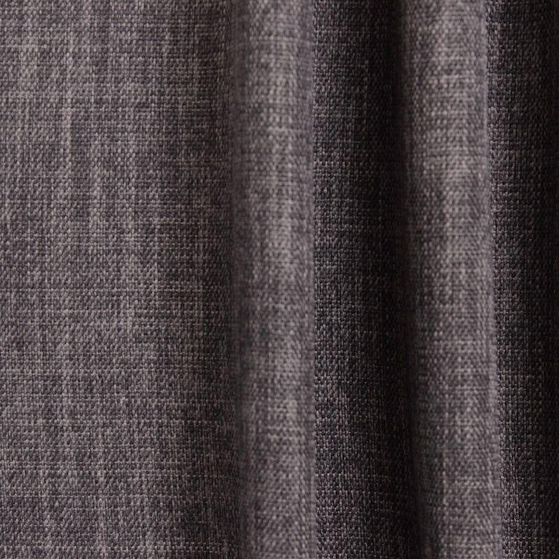 tissu obscurcissant grande largeur effet lin marron taupe. Black Bedroom Furniture Sets. Home Design Ideas