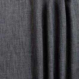Tissu opacifiant grande largeur effet lin gris étain
