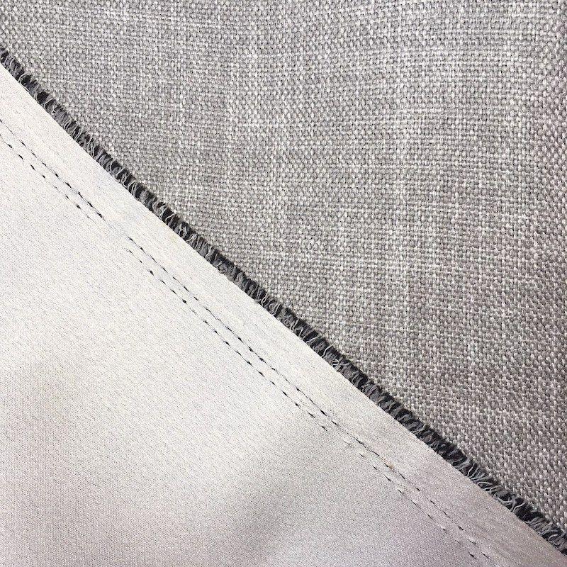 tissu obscurcissant grande largeur effet lin beige. Black Bedroom Furniture Sets. Home Design Ideas