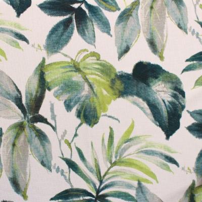 Tissu obscurcissant à motif végétal vert