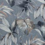 Tissu obscurcissant à motif végétal fond gris