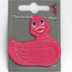 petit canard rose thermocollant