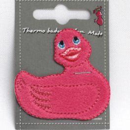 Opstrijkbare roze eend