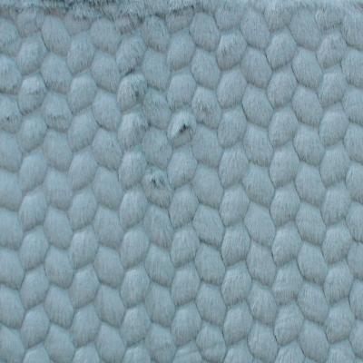 Fausse fourrure à motif embossé bleu glacier