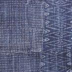 Tissu d'ameublement  100% coton effet jeans délavé à motif ethnique
