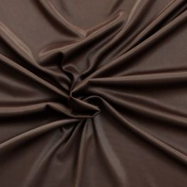 Tissu crêpe satin chocolat