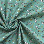 Fabric cretonne 100% cotton with multicoloured drops design.