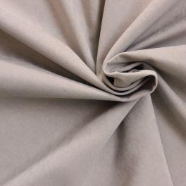 Tissu effet peau de pêche 100% polyester sable