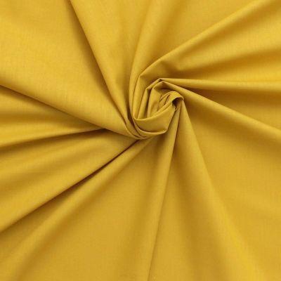 Toile à drap en coton uni jaune maïs