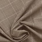 Tissu en polyester prince de galles taupe