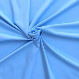 Tissu en coton, polyamide et élasthane bleu cyan