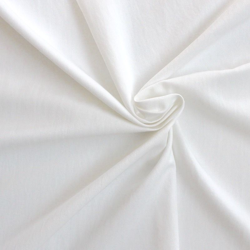 tissu en coton chevrons blanc cass. Black Bedroom Furniture Sets. Home Design Ideas